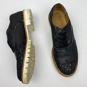 Shoes - Anthropologie L'F Shoes Glitter Loafers